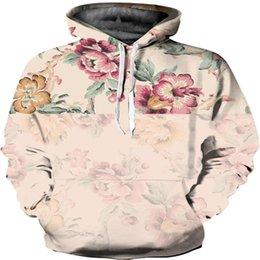 winter rose flower Australia - New Fashion Sweatshirt Rose Flower Digital Prints Pullover Hoodie Autumn Winter Men Women Sweats Casual Long Sleeve Tops WY240
