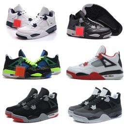 superman cotton fabric 2018 - With Box 4s Classic 2018 High Quality 4 IV Basketball Shoes Sports Sneakers Male 4s Supermen Black Blue