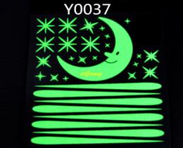 2019 duschraumaufkleber 10 teile / los Meteorschauer Mond im Dunkeln leuchten Fluoreszierende Aufkleber Wohnkultur Für Kinderzimmer Aufkleber Y0037 günstig duschraumaufkleber