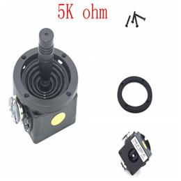 Potenciómetro de palanca de mando Interruptor rotatorio bidireccional JH-D202X-R2 de 5K ohmios Potenciómetro de palanca de mando negro desde fabricantes
