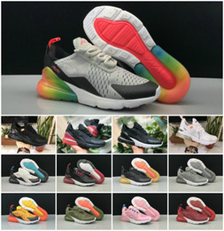 981433b16461 2018 Arrival Air Kids 270 Running Sports Shoes Infant 270s boys girls off  Black White Red Blue Trainer Sneakers Run plus TN Chaussures Maxes