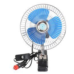 Canada 12 V Mini Ventilateur De Voiture Électrique De Refroidissement À Faible Bruit D'été De Voiture Climatiseur Fan Portable Véhicule Véhicule Auto Camion Oscillant cheap air conditioner car 12v Offre