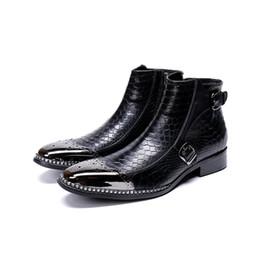 black italian leather mens boots 2019 - Mens Flat Chelsea Boot Imported  Italian Leather Square Toe 212e733972da