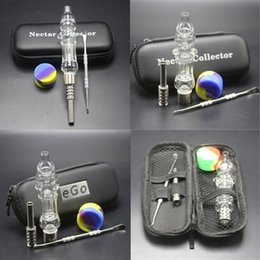 Wholesale Glass Pipe Bags - New Style Cheap Honeybird Nectar Collector Glass Pipe Ego Bag Kit Dab Rig Smoking Water Pipes With Silicone Jar Dabber Tool