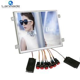 Wholesale Advertising Pictures - Lanmade 10.6inch plastic button control picture frames advertising display lcd
