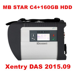 Wholesale mb star diagnosis system - Best A+ Quality MB Star C4 SD Connect Star Diagnosis+ Xentry DAS 2015.09 Compact 4 Multiplexer For Mercedes Benz Diagnostic Tool