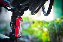 2019 cree teile COB USB Wiederaufladbare Fahrrad Licht Rücklicht 16 LED 3 Modi Hinten Schwanz Fahrrad Sicherheitswarnlicht Lampe Wasserdicht Blitzlicht mit paket