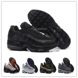 Wholesale Max Men Running Shoes - 2018 Cheap Discount Men maxes 95 OG Cushion Navy Sport Hot Sale Chaussure 95s Walking Boots Men Running Shoes Cushion 95 Sneakers