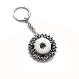 Wholesale square metal key chains - Interchangeable Top Popular 031 Fashion Metal Key Chains Fit 18mm Snap Button Keychain Jewelry For Men Women Key rings Gift