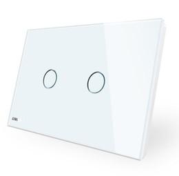 Interruttore a muro di alta qualità all'ingrosso, 110 ~ 250V, pannello di vetro bianco avorio, AU / US Interruttore a tocco standard VL-C902-11 con indicatore LED da