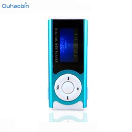Wholesale Green Screen Games - Ouhaobin New Shiny Mini USB Clip Mp3 Player LCD Screen MP3 Media Player Support 16GB Micro SD Sport Music Players Oct12