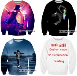 Wholesale Super Man Sweater - New Fashion Couples Men Women Unisex Couple Super Star Michael Jackson 3D Print Hoodies Sweater Sweatshirt Jacket Top W6