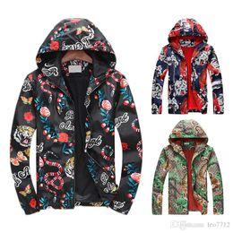 Canada Même le manteau veste coupe-vent hommes et femmes veste nouvelle mode broderie tigre serpent impression manteau manteau G 3D G Offre