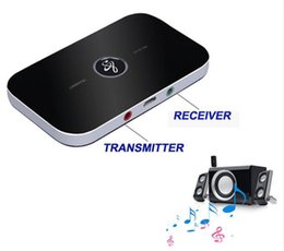 Wholesale Hifi Bluetooth Transmitter - Bluetooth RT - B6 Wireless Adapter HIFI Audio Bluetooth Receiver and Transmitter With 3.5MM Audio Input And Output For TV MP3 PC
