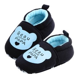 Wholesale Cribs For Baby Girls - New Kid Baby Boys Girls Spring Autumn Winter Walking Shoes Toddler Soft Sole Non-slip Cotton Fabric Crib Shoes For Toddler Baby