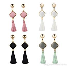 Wholesale cross textures - Cross Border For Korean Fashion Popular Texture Block Round Geometry Velvet Earrings Earring Accessories Product