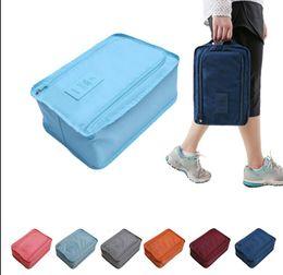 Wholesale waterproof shoe storage - Portable Travel Shoes Storage Outdoor Tote Pouch Waterproof Bag Organizer Shoe Bags Storage Bag shoe box 6 color KKA3828