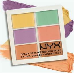 Wholesale Facial Moisturizers - PROFESSIONAL Makeup NYX Concealer Palette 6 color correcting cache - cernes correcteur Primer Foundation Cosmetics Facial Care Cottect