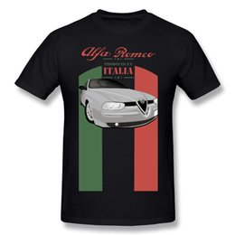 Wholesale Alfa Red - Novelty Man's Alfa Romeo T Shirt Big Size Popular Boy Soft Quality Tees
