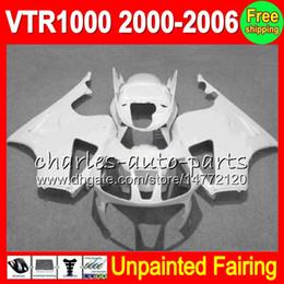 honda vtr sp1 carenagens Desconto Kit 8Gifts Unpainted Carenagem Completa Para HONDA RC51 VTR1000 RTV1000 SP1 VTR 1000 SP2 2000 2001 2002 2003 2004 2005 2006 Carrocerias Carroçaria