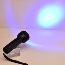 Wholesale Wholesale Hunters - 51 UV LED Scorpion Detector Hunter Finder Ultra Violet Blacklight Flashlight Torch Light Lamp AAA395nm 5W