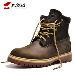 Wholesale Head Men Boots - Authentic Brand Motorcycle Boots Head layer cowhide Casual 6-Inch Premium Boots man Waterproof outdoor Nubuck boots
