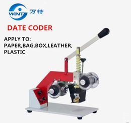 Herramienta de estampación en caliente manual códigos de fecha de caducidad máquina de impresión cinta térmica impresora bolsas de plástico Código de sello de acero Impresora desde fabricantes