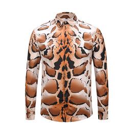 2019 новый мужской дизайн Новый европейский дизайн бренда итальянский мужской моды лидер животных цветок печати досуг с длинным рукавом высокое качество европейский пол рубашки
