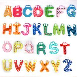 2019 образовательный английский планшет 26 шт. деревянный мультфильм алфавит A-Z магниты ребенка образовательные игрушки обучающие игрушки