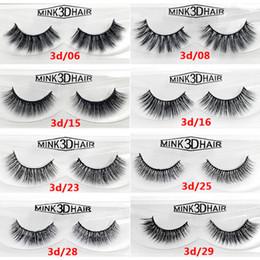 Canada 12 styles 2pcs / paire 100% réel sibérien 3D Mink Bande Complète Faux Cils Longs Cils Individuels Mink Lashes Extension 60 sets cheap individual eyelash sets Offre