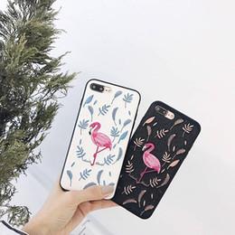 2019 розовые домашние телефоны Yun RT новый стиль высокое качество PU фламинго розовый вышивка телефон задняя крышка корпуса для IPhone 6 Plus простой чехол для Girl1 дешево розовые домашние телефоны