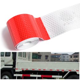 Wholesale White Reflective Tape - 1Pc New Car Sticker Reflective Tape Sheeting Automotive Body Motorcycle Decoration Waterproof Auto Motor Color Strip Styling