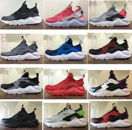 Wholesale Red Checkered Shoe Laces - 2017 Airs Huarache Ultra Running Shoes 13 Fashion Colors Huraches 4s Running Trainers for Men Women Outdoors Shoes Huaraches Sneakers