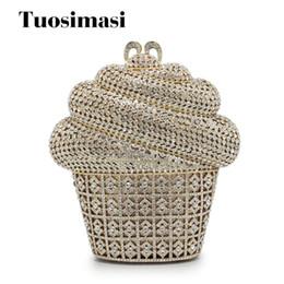 Подарочная коробка мороженое форма алмаз горный хрусталь кошельки дамы Minaudiere вечерние клатчи золотой кристалл партия клатчи (88236-GS) cheap purse shaped gift boxes от Поставщики кошельковые подарочные коробки