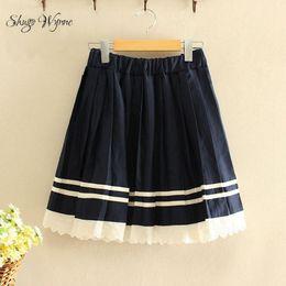 Wholesale Uniform High School - Shugo Wynne Japanese School Uniform Anime Girl 2016 Autumn Winter Women Skirt Cute Preppy Style High Waist Pleated Mini Skirt