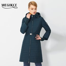 Wholesale Thin Down Coats For Women - Wholesale- 2017MIEGOFCE Spring Parkas for Women With Hood Fashionable Female Spring Coat High Quality Thin Cotton Padded Jacket New Arrival