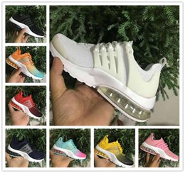 Wholesale Baby Cotton Fabric - Baby Kids Air Presto Ultra Running Shoes Boost BR QS Children Athletic Shoes Boys Girls Black White air cushion Sport Sneakers Size 28-35