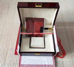 Wholesale Original Box Papers Luxury - Luxury High Quality Red Nautilus Watch Original Box Papers Card Wood Boxes Handbag Glass For Nautilus Aquanaut 5711 5712 5990 5980 Watches