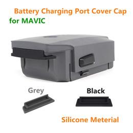 2019 cubre puerto DJI Silicone Battery Charging Port Cover Cap Protector a prueba de polvo Plug Anti cortocircuitos Protección de carga para DJI MAVIC PRO rebajas cubre puerto