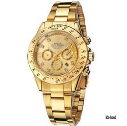 Wholesale Gentleman Watches - Causal Business Men Women Gold Wrist Watches Stainless Steel Watchband Top Luxury Brand Males Gold Gift Quartz Clock Gentleman Wristwatch