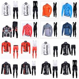 2018 pantalones largos jersey mtb ROCK RACING STRAVA equipo Ciclismo manga larga jersey (babero) establece Gel Acolchado Racing Sport Quick Dry Lycra MTB Bike Clothing D1622 rebajas pantalones largos jersey mtb