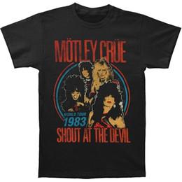 2019 venda de camisas engraçadas Roupas engraçadas casuais camisetas de manga curta Motley Crue t-shirt grito vintage no diabo 30/1 2016 Hot Sale Super Fashion desconto venda de camisas engraçadas