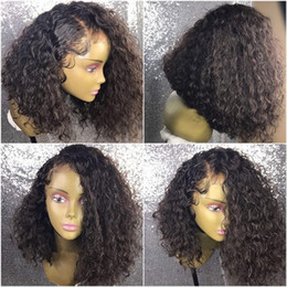 Afro Crespo Encaracolado Cabelo Humano Afro Crespo Encaracolado Perucas Dianteiras Do Laço Sem Cola Peruca Cheia Do Laço Top de Seda Virgem Peruano Peruca de Cabelo Humano supplier silk top curly lace wigs de Fornecedores de perucas de renda com seda superior
