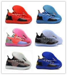 the latest 2d4a5 513ba 2018 Nouveau Kid Femmes Jeunesse KD XI 11 EP Oreo Beaucoup de Couleurs  Basket Chaussures Bonne qualité Kevin Durant 11 s Sport Enfants Trainers  Sneakers ...