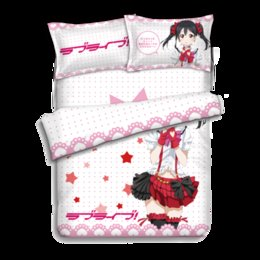 Wholesale Quilt Bedcover - Japanese Anime Lovelive Nico Yazawa Bed sheets Bedding Sheet Bedding Sets Bedcover Quilt Cover Pillow Case 4PCS