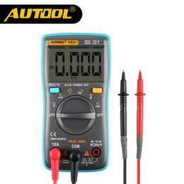 Wholesale portable multimeter - Original AUTOOL DM201 Portable Autoranging Digital Multimeter 6000 Counts Backlight AC DC Ammeter Voltmeter Ohm Portable Meter