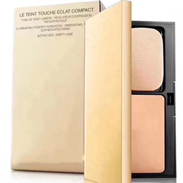 Wholesale case types - Luxury Brand Le Teint Touche Eclat Compact Pressed Setting Powder Foudation Bomer Vide Empty Case b10 b20 b30 Makeup powder