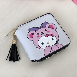 4e6571e69 Cute Cartoon Hello Kitty Boys Girls Short Wallet Card Holder Clutch Coin  Cash Purses Student boy girl Child Small Bag Gift inexpensive hello kitty  wallets