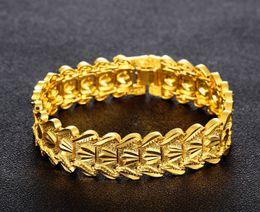bracelets en platine et or Promotion Couple classique coeur Bracelet or 18 carats / platine plaqué Chunky belle bracelets bijoux de mode cadeau pour l'amour