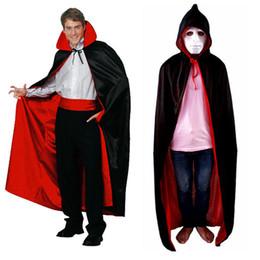 2019 trajes de deus Mens Halloween Costume Cape Death Deus Red Capuz Vampiro Cosplay Gola Manto Frete Grátis trajes de deus barato